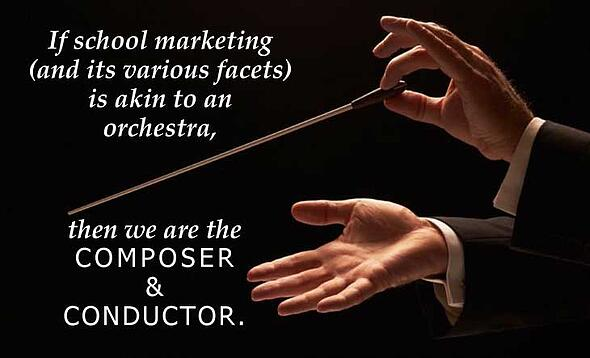 school marketing needs a conductor and composer